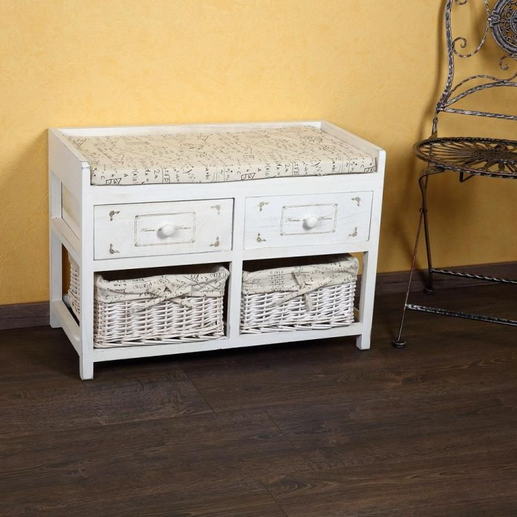 aweczka z 2 szufladami bia a siedzisko kosze sklep. Black Bedroom Furniture Sets. Home Design Ideas