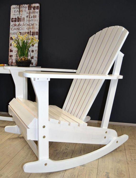 Drewniany Fotel Bujany Krzesło Białe Sklep Kochamymeblepl