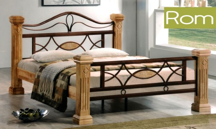 łóżko Drewniane 180x200 Model Rom Sklep Kochamymeblepl