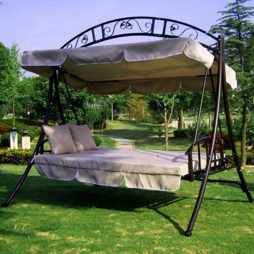 Hustawka Ogrodowa Metalowa Allegro : Huśtawka ogrodowa rozkładana metalowa z dachem  sklep Kochamymeble