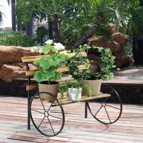 Ławka drewniana na kwiaty stoisko