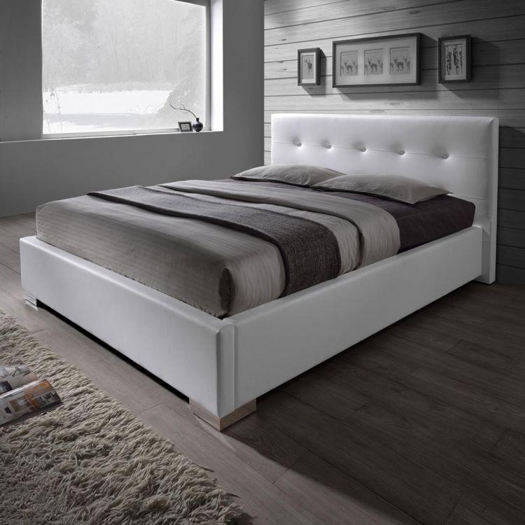 łóżko Skórzane Z Pojemnikiem Na Pościel 140x200 Model Betty