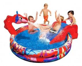 Basen dla dzieci ze zjeżdżalnią wodny plac zabaw