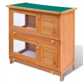 Drewniana klatka dla królików 2 piętra klatka dla zwierząt