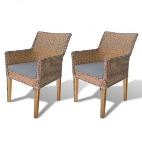 Krzesło ratanowe 2 szt krzesło ogrodowe