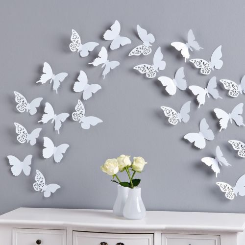 motylki dekoracyjne naklejki cienne dekoracja 3d 5614520761 wi cej ni aukcje. Black Bedroom Furniture Sets. Home Design Ideas