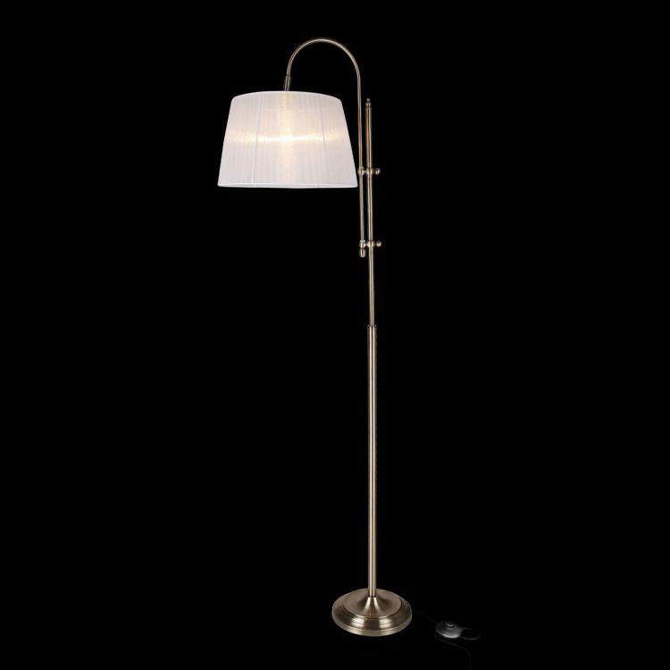 lampy podłogowe z białym.kloszem
