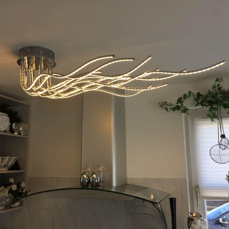 Yrandol lampa sufitowa led 150 cm regulowana sklep - Plafoniere per camere da letto ...