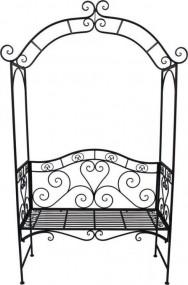 Ławka dekoracyjna z pergolą pergola