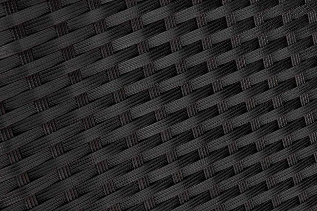 Producent Mebli Ogrodowych Z Rattanu : Komplet mebli ogrodowych z rattanu czarny 4 elementy Palma  sklep