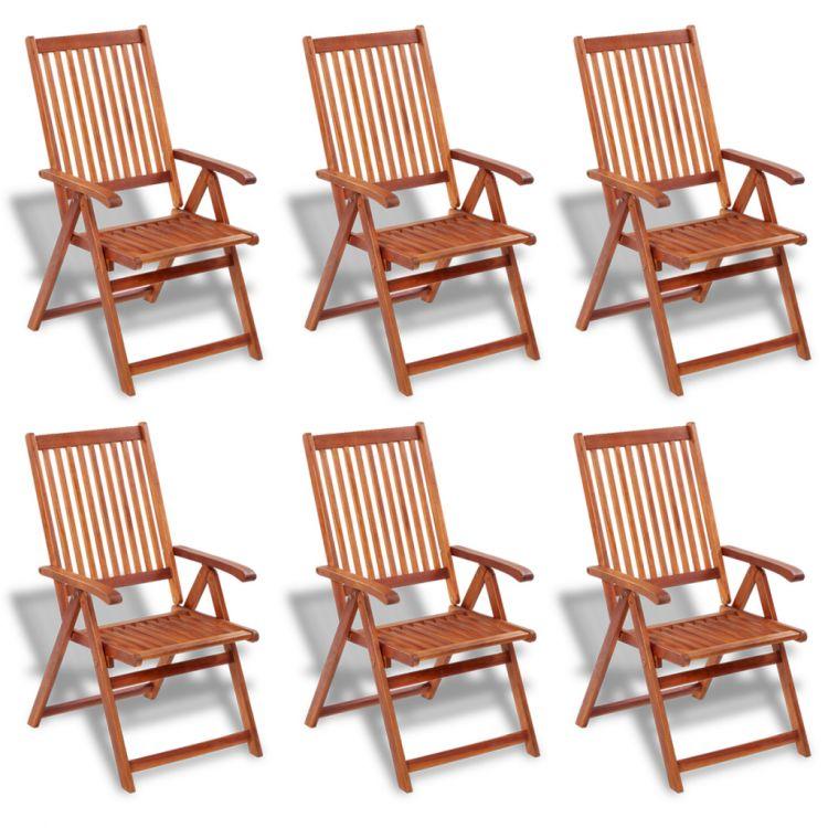 Meble ogrodowe drewniane 6 krzese st komplet sklep for Sillas de madera para jardin