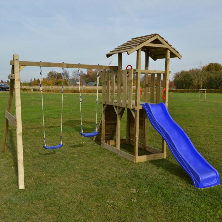 Tanie Hustawki Ogrodowe Dla Dzieci : Plac zabaw drewniany zjeżdżalnia huśtawki ścianka wspinaczkowa