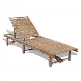 Duży leżak drewniany bambusowy