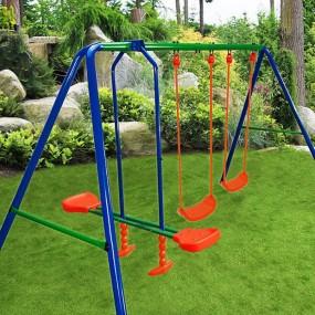 Plac zabaw 3 huśtawki gondola konik