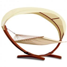 Leżak ogrodowy hamak 405cm drewniana rama
