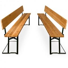 Komplet 2 ławki ogrodowe oparcie drewno HIT