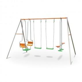 Plac zabaw dla 6 dzieci 2 x huśtawka konik gondola