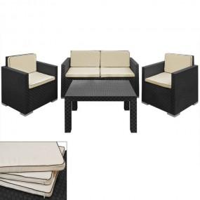 Meble ogrodowe rattanowe sofa fotele stół