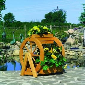 Kwietnik stojak pojemnik na kwiaty donica na kołach wóz