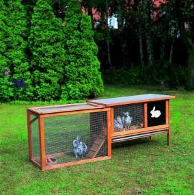 Klatka dla kur królików gryzoni z wybiegiem klatka dla zwierząt