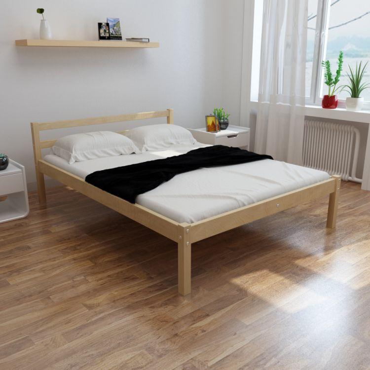 łóżko Drewniane Sosnowe 180x200 Stelaż