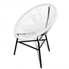 Krzesło owalne rattanowe białe nowość!