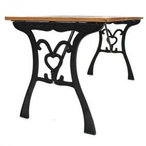 Stół ogrodowy żeliwny drewniany