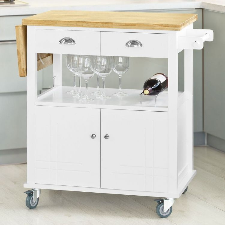W zek kuchenny stolik szafka na k kach bia a sklep for Carritos con ruedas para cocina