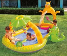 Bestway basen dla dzieci plac zabaw natrysk parasol