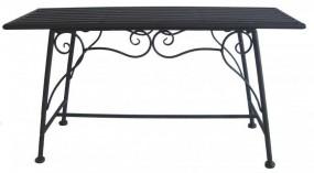 Ławka metalowa dekoracyjna bez podłokietników