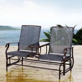 Ławka bujana 2-osobowa fotel bujany ogrodowy + stolik