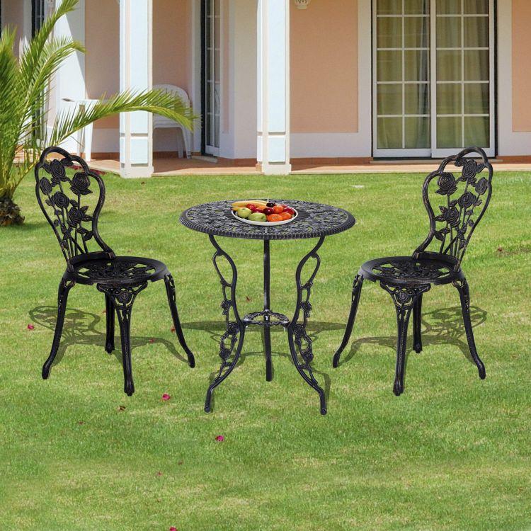 Zestaw mebli ogrodwych balkonowych stół stolik + 2 krzesła