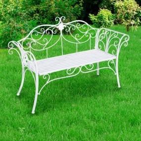 Ławka ogrodowa ławeczka biała