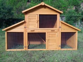 Klatka dla królików gryzoni kur z wybiegiem kurnik klatka dla zwierząt