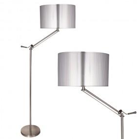 Lampa stojąca podłogowa srebrna nowoczesna