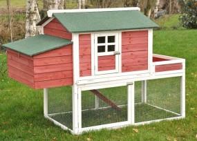Kurnik klatka dla 2-3 kur królików z wybiegiem i donicą klatka dla zwierząt