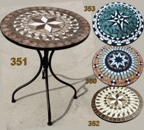Stolik mozaikowy ceramiczny zdobiony 60 cm