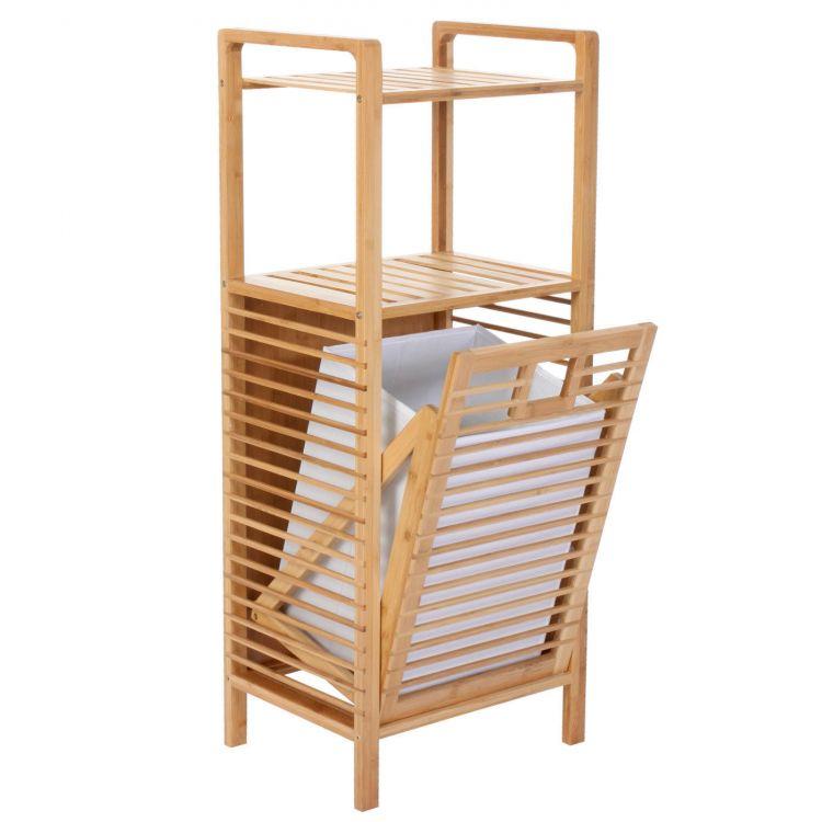 Bambusowy kosz na pranie z p k rega azienkowy sklep - Mobile portabiancheria sporca ...