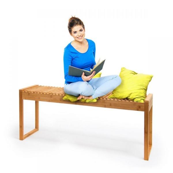Ławka bambusowa ławeczka do przedpokoju poczekalni