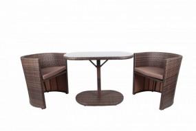 Zestaw mebli balkonowych stół stolik + 2 fotele