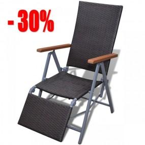 Leżak ogrodowy krzesło szaro-brązowe