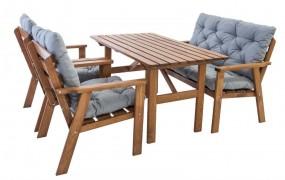 Komplet drewniany zestaw ogrodowy meble ogrodowe drewniane