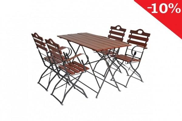 Meble ogrodowe metalowe antyczne 4 krzesła+ stół