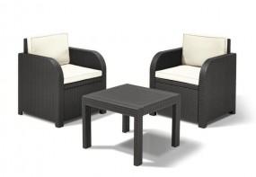 Zestaw rattanowy 3 częściowy Florida stół+2 fotele meble ogrodowe rattanowe