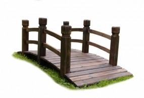 Mostek ogrodowy most drewniany 150 cm