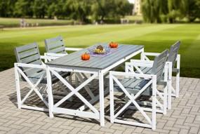 5-elementowy składany zestaw ogrodowy stół 4 krzesła + stół meble ogrodowe drewniane