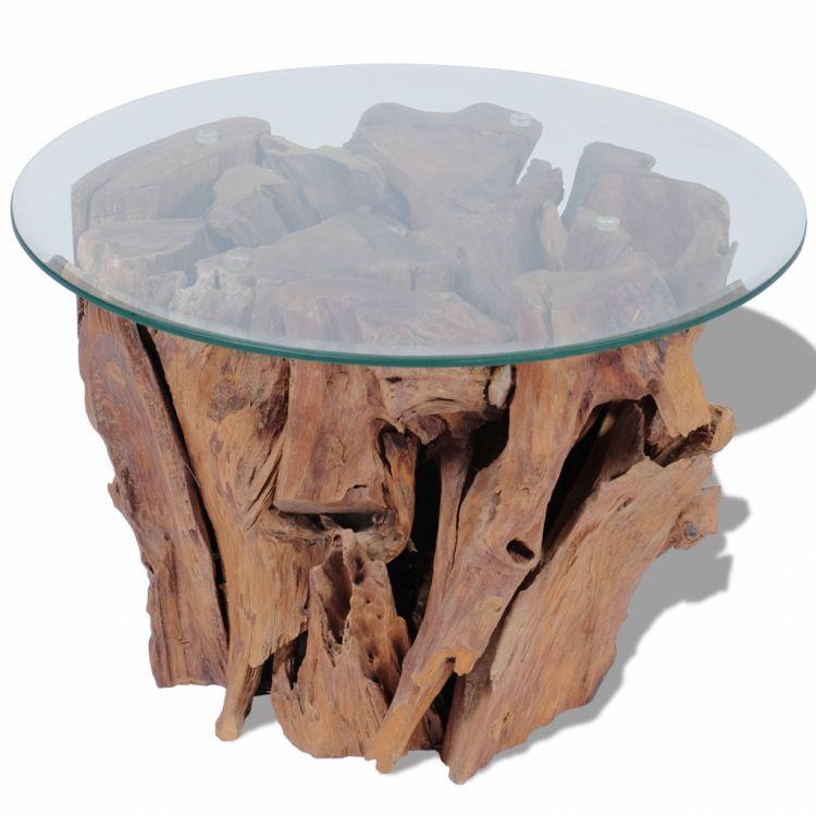 Dodatkowe Stolik kawowy drewniany okrągły 60cm - sklep Kochamymeble.pl BJ89