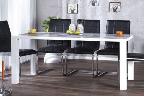 Stół do jadalni 160cm biały wysoki połysk
