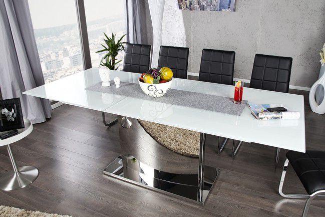 Rewelacyjny Stół szklany do jadalni 180-220 chrom nowość! - outlet AC42