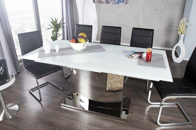 Zaawansowane Stół szklany do jadalni 180-220 chrom nowość! - outlet PN09